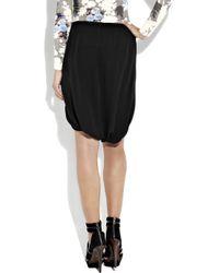 Willow Black Silk Sarong Shorts