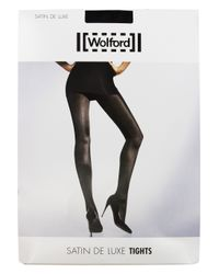 Wolford Black Satin De Lux Tights