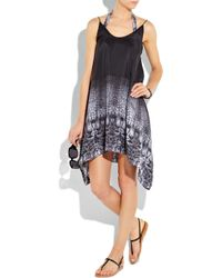 Zimmermann Black Copy Cat Silk Swing Dress