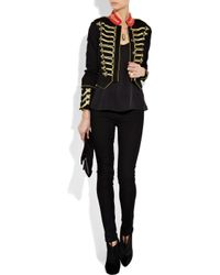 Alice By Temperley Black Game Structured-jersey Military Jacket