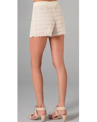 Club Monaco - Natural Diaz Lace Shorts - Lyst