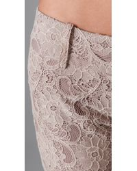 Georgie | Brown Ashley Lace Bell Bottom Pants | Lyst