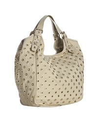 Givenchy | Natural Beige Nylon Studded New Sacca Small Hobo | Lyst