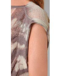 Raquel Allegra | Multicolor Tie Dye Tee | Lyst
