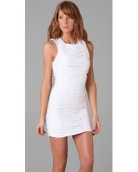 Torn By Ronny Kobo Sari Ruched Dress In White