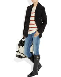 Burberry - Black Buckle-embellished Rubber Boots - Lyst