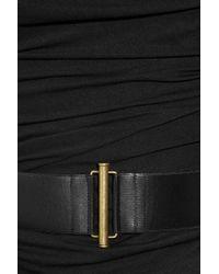 Donna Karan New York | Black Cowl-neck Stretch-jersey Dress | Lyst
