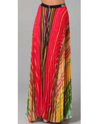 Alice + Olivia - Multicolor Shannon Printed Maxi Skirt - Lyst
