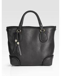 Gucci Black Marrakech Medium Tote Bag