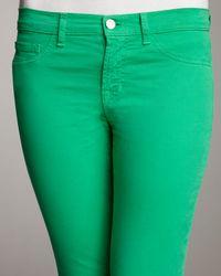J Brand | 811 Mid-rise Skinny Twill Jeans, Bright Green | Lyst