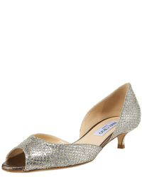 Jimmy Choo - Metallic Glittered Kitten Heel Dorsay - Lyst