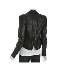7 For All Mankind - Black Rumble Leather Jacket - Lyst