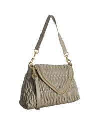 Big Buddha - Natural Taupe Quilted Faux Leather Layla Shoulder Bag - Lyst