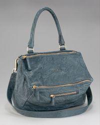 Givenchy | Pandora Medium Shoulder Bag, Peacock Blue | Lyst