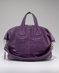Givenchy Purple Nightingale Satchel, Dark Violet