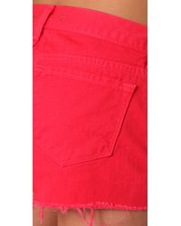 J Brand - Red Low Rise Cutoff Shorts - Lyst