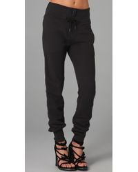 T By Alexander Wang - Black T By Alexander Enzyme Washed French Terry Sweatpants - Lyst