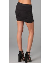 T By Alexander Wang - Black Rusched Skirt - Lyst