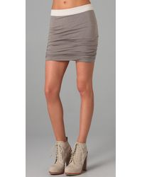 T By Alexander Wang | Gray Ruched Skirt | Lyst