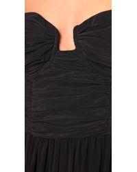 Zimmermann - Black Ruched Bustier Long Dress - Lyst