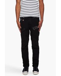 G-Star RAW | Black General Tapered Cargos for Men | Lyst