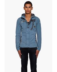 G-Star RAW Gray New Recolite Hooded Jacket for men
