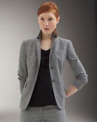 Akris Gray Two-button Bracelet-sleeve Jacket