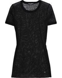 Dolce & Gabbana Black Sheer Cotton Mesh Top