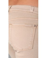 7 For All Mankind Natural Skinny Crop and Roll