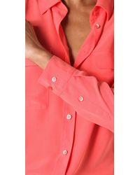 Equipment | Pink Signature Blouse | Lyst