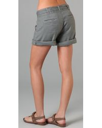 Genetic Denim - Gray The Bella Pleated Shorts - Lyst