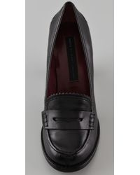 Marc By Marc Jacobs Black High Heel Penny Loafers