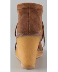 Marc By Marc Jacobs Brown Wallabee Suede Wedge Booties