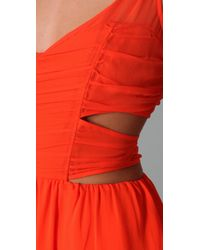 Pencey - Orange Cut Out Dress In Sunset - Lyst