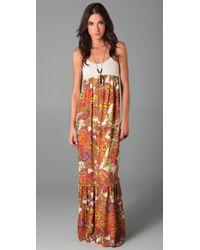 Torn By Ronny Kobo Orange Robyn Paisley Maxi Dress