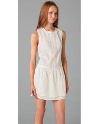 Twelfth Street Cynthia Vincent White Eyelet Tunic Dress
