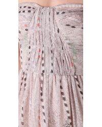 Twelfth Street Cynthia Vincent Pink Mayan Shirred Corset Maxi Dress