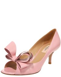 Valentino - Pink Patent Bow Pump, Begonia - Lyst