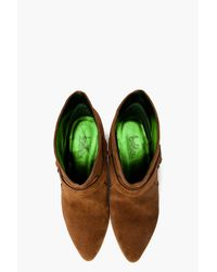 Belle By Sigerson Morrison Brown Pull On Harness Booties