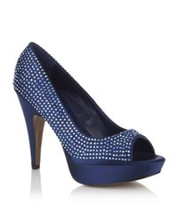 Carvela Kurt Geiger | Blue Guess Peep Toe Pump | Lyst