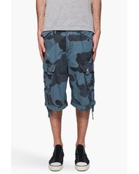 G-Star RAW | Blue Laundry Camo Rovic Shorts for Men | Lyst