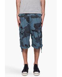 G-Star RAW - Blue Laundry Camo Rovic Shorts for Men - Lyst