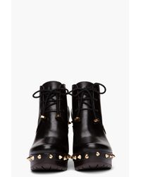 Marc By Marc Jacobs - Black Studded Platform Booties - Lyst