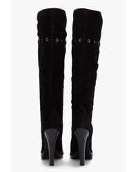 Saint Laurent Black Chelsea Tassel Boots