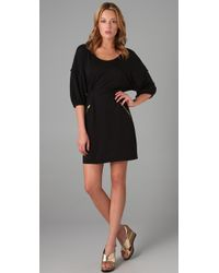 Marc By Marc Jacobs Black Feather Tie Waist Dress