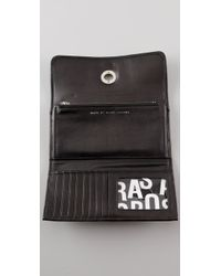 Marc By Marc Jacobs Black Totally Turnlock Long Trifold Wallet