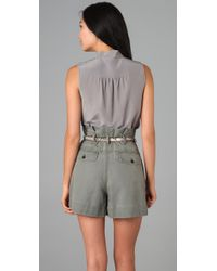 Marc By Marc Jacobs | Gray Sleeveless Blouse | Lyst
