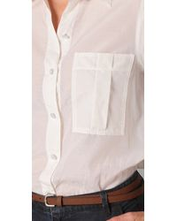 Marc By Marc Jacobs | White Cotton Silk Rex Button Front Blouse | Lyst