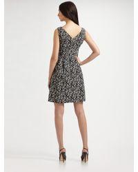 Nanette Lepore Black County Fair Printed V-neck Dress