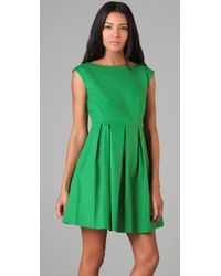 Shoshanna | Green Boat Neck Party Dress | Lyst